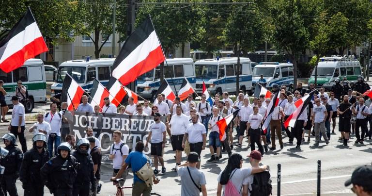 Berlin am 18.08.2018 Naziaufmarsch zum Gedenken an HitlersStellvertreter